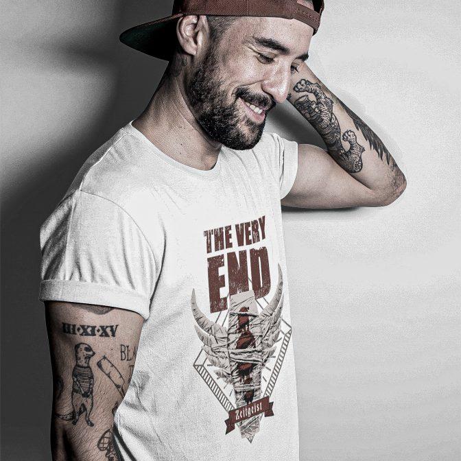The Very End Zeitgeist Albumcover T-Shirt White merch merchandise