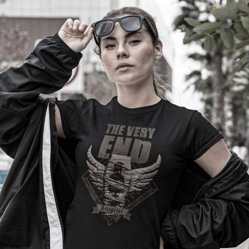 The Very End Zeitgeist Albumcover-Girlie shirt Black