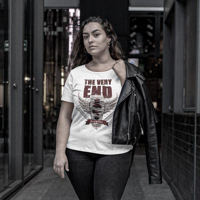 The Very End Zeitgeist Albumcover Girlie shirt White