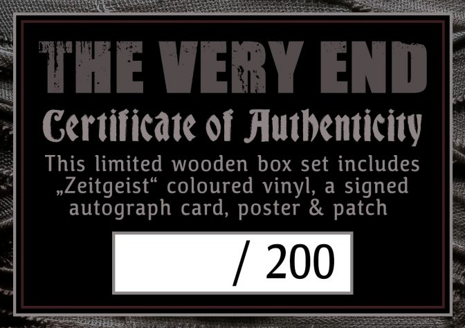 Zeitgeist-certificate of authenticity-Thevery-End-Wooden-Box-Set-limited-edition-marbled-vinyl-lp